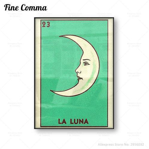 La Luna Loteria Canvas