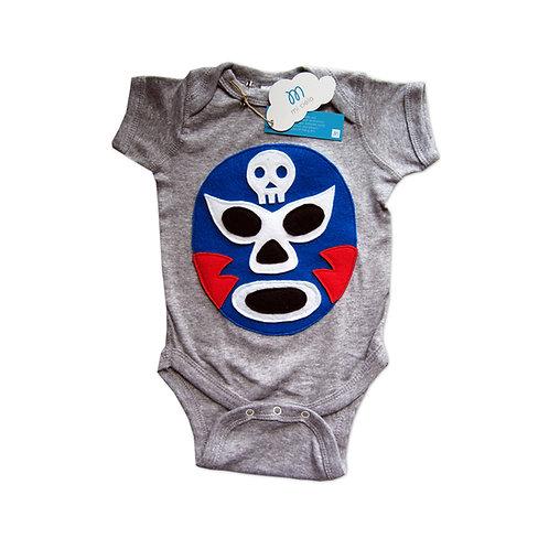 Baby Onesie - Luchador Azul - Blue Mexican Wrestler