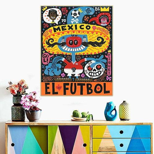 """Jorge Gutierrez """"El Futbol"""" Canvas Replica"""