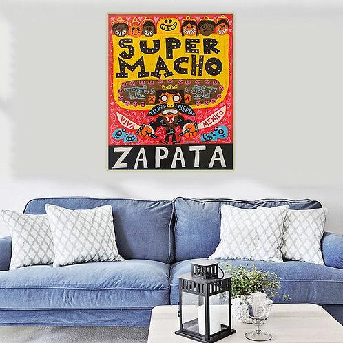 "Jorge Gutierrez ""Super Macho"" Canvas Replica"
