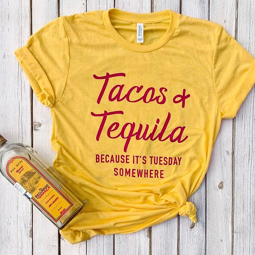 Tacos and Tequila  Woman's Tshirt