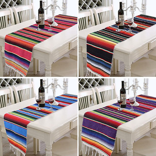 Sarape Table Runners with Tassel