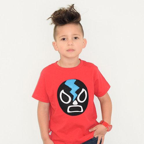 Kids T-Shirt - Luchador Negro - Black Mexican Wrestler Toddler Shirt
