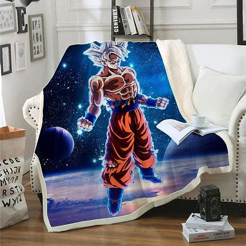 Goku Plush Throw Blanket