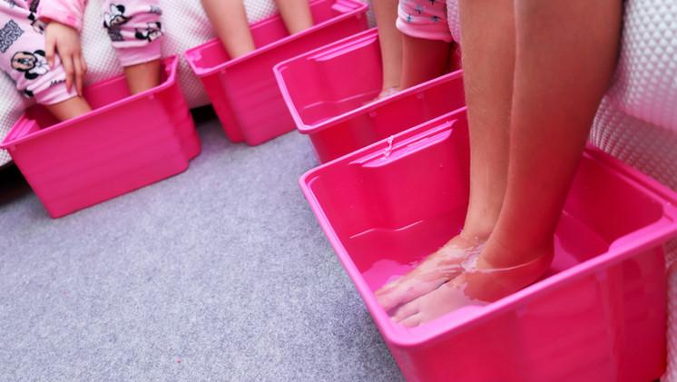 pedicura spa fiesta tematica
