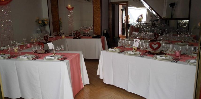 Decoración de mesa imperial