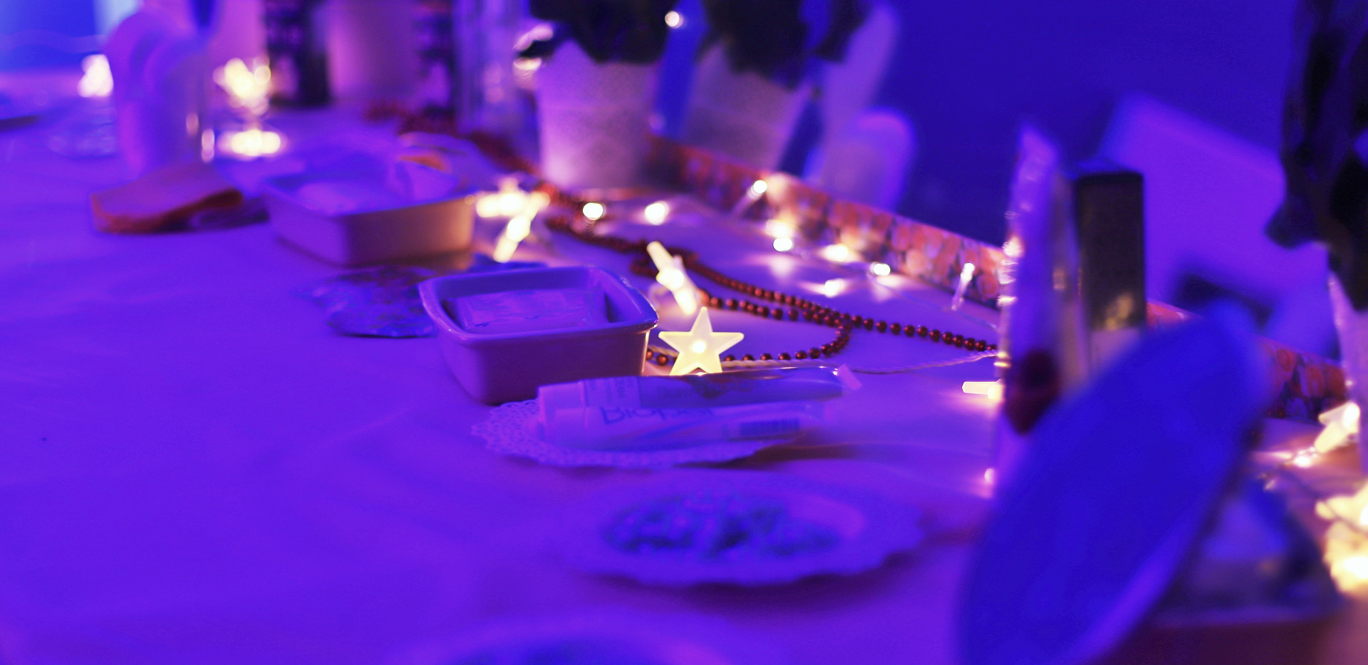 mesa de mascarilla relajante