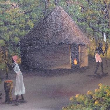 African village scene £ 140