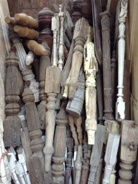 Newel posts and spindles