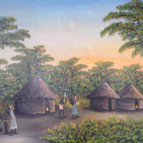 African village scene £140