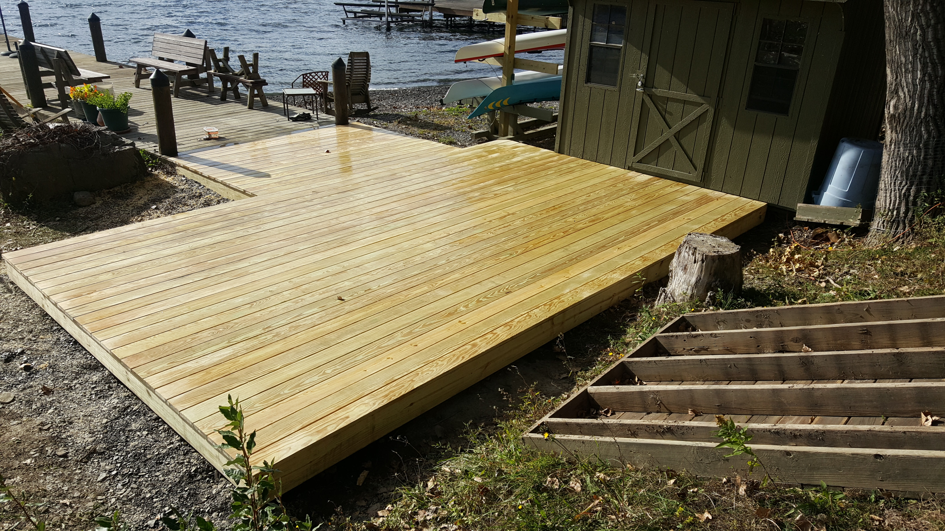 Lake House Deck - 2