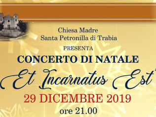 """Et Incarnatus Est"" - Trabia (Pa) 29/12/2019"