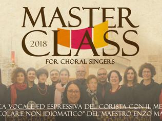 Masterclass in Tecnica vocale ed espressiva del corista - Milazzo 12-13/05/2018