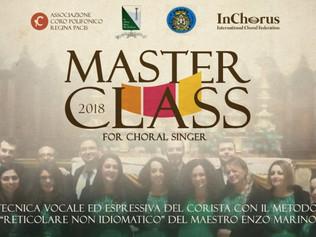 """Masterclass in """"Tecnica vocale ed espressiva del corista"""" - Reggio Calabria 10-11/03/2018"""