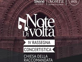 """IV EDIZIONE DELLA RASSEGNA CONCERTISTICA """"NOTE DI VOLTA"""" - Sciacca (Ag) dal 12/10 al 30/11"""