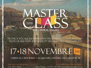 Masterclass per coristi - Palermo 17-18/11/2018