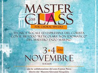 Masterclass Ragusa 3-4/11/2018