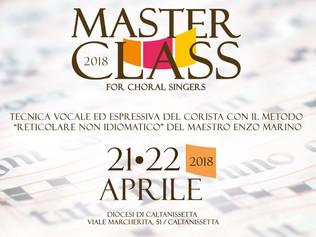 Masterclass in Tecnica vocale ed espressiva del corista - Caltanissetta 21-22/04/2018