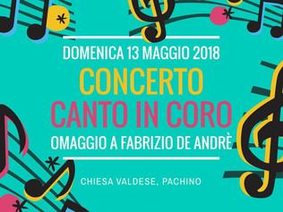 Omaggio a Fabrizio De Andrè - Pachino (SR) 13/05/2018