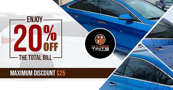 20% Off Window Tint Coupon