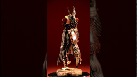 Hand carved Hopi Kachina Doll by Gerry Quotskuyva
