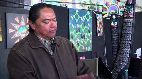 Gerry Quotskuyva at the Southwest Indian Art Fair