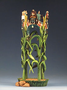 Corn Spirits - Hopi Katsina Carving