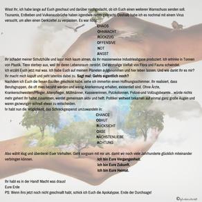 Planetenbeben-Offener Brief an meine Bewohner