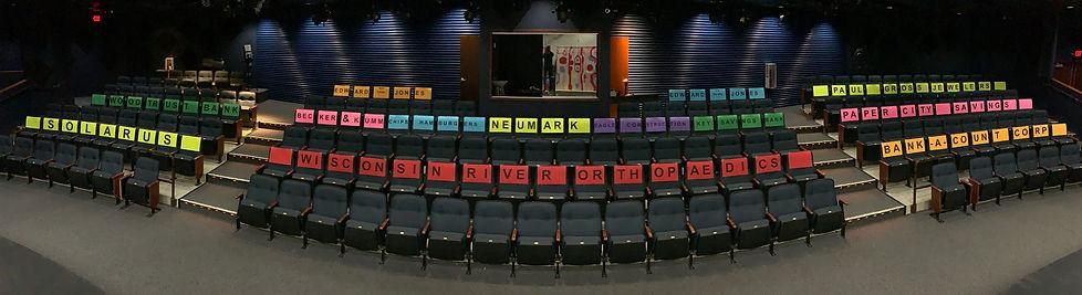 Theatre Ghost Seat Advertiser Sponsors.J