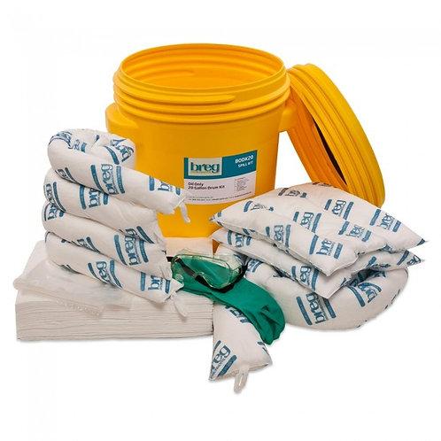 Spill Kit - Oil Only - 20 Gallon Screw Top Labpack