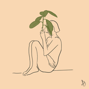 Woman and Plant
