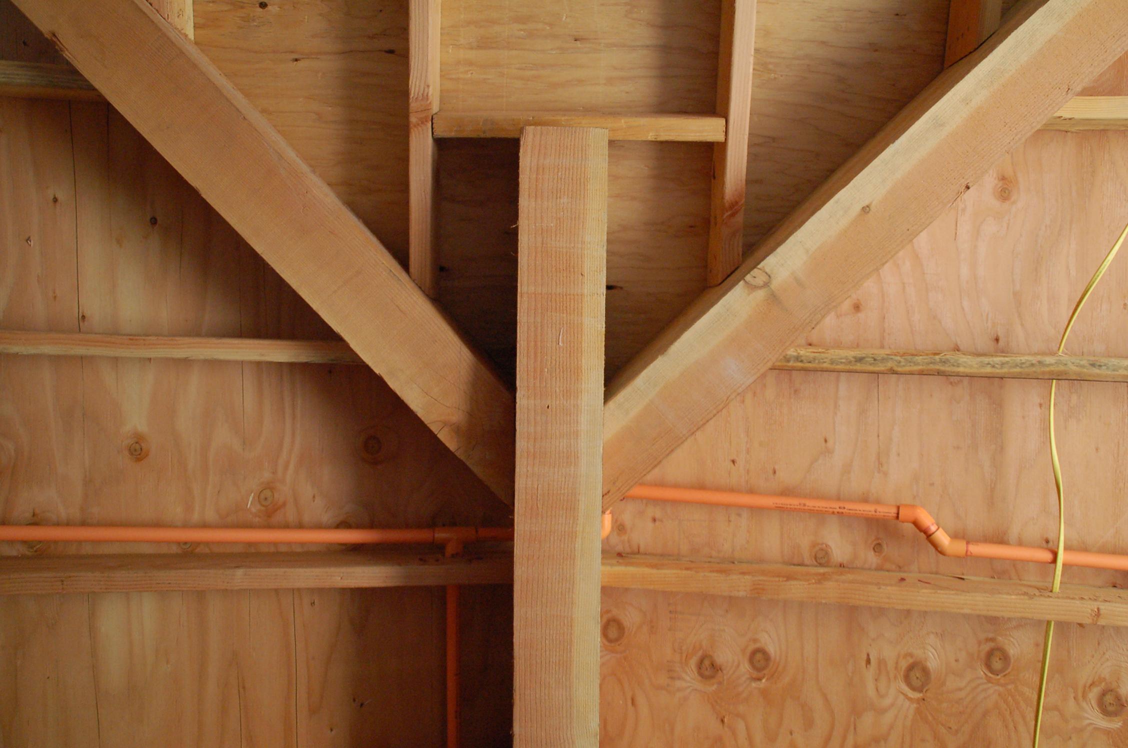 Ceiling/roof framing.
