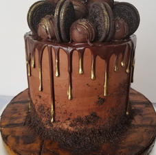 Chocolate Oreo Truffle Cake
