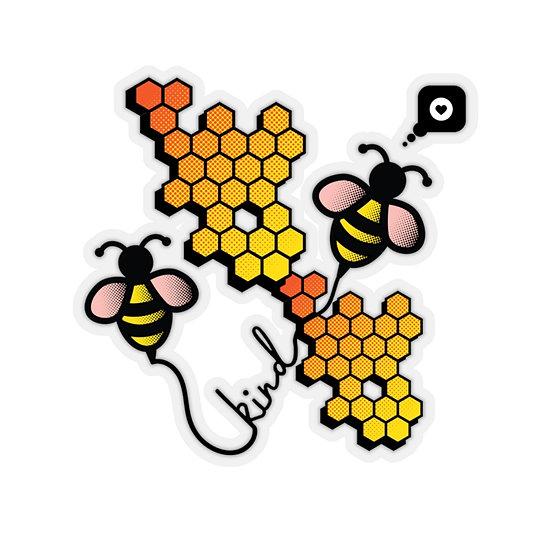 Bee Kind Honeycomb Sticker