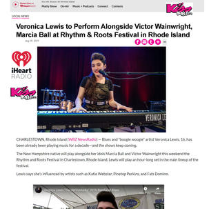Veronica Lewis to play Rhythm Roots Festival