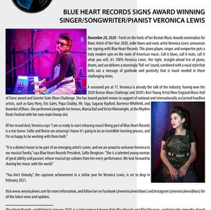 Blue Heart Records Signs Veronica Lewis