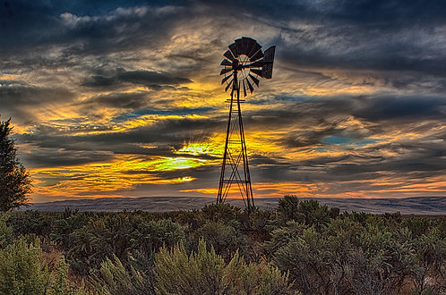 High Desert Windmill