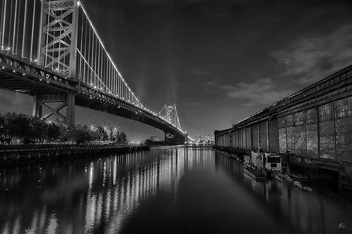 Ben Franklin Bridge B&W
