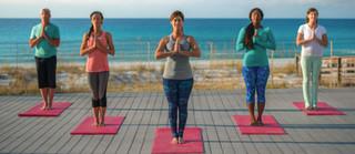 Yoga à la plage