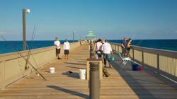 Pèche sur le Pier de Deerfield Beach
