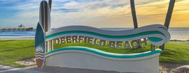 La plage de Deerfield Beach