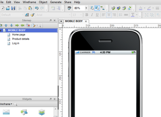 Axure on a mobile device