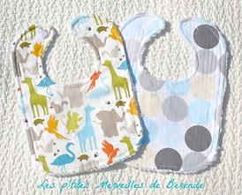 Bavoirs bébé très absorbants en tissu