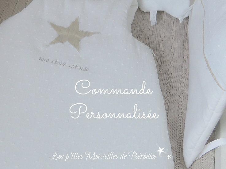 """Nid d'ange """"étoile"""" lin beige/argenté"""