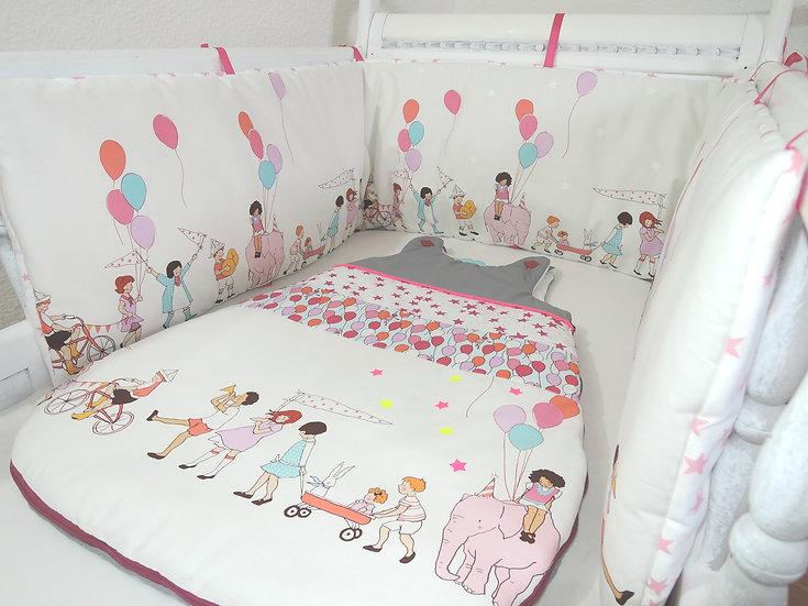 """Tour de lit & gigoteuse """"Parade des enfants"""""""