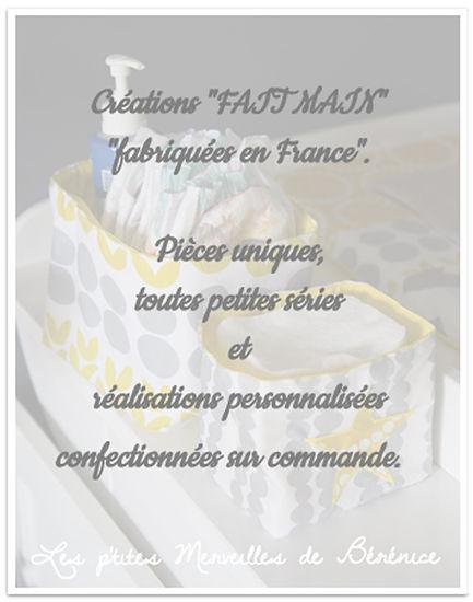 """Créations pour bébé Fait Main en France """"Made i France"""""""