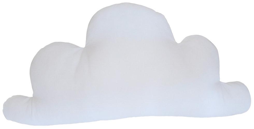 Grand coussin nuage en coton uni blanc