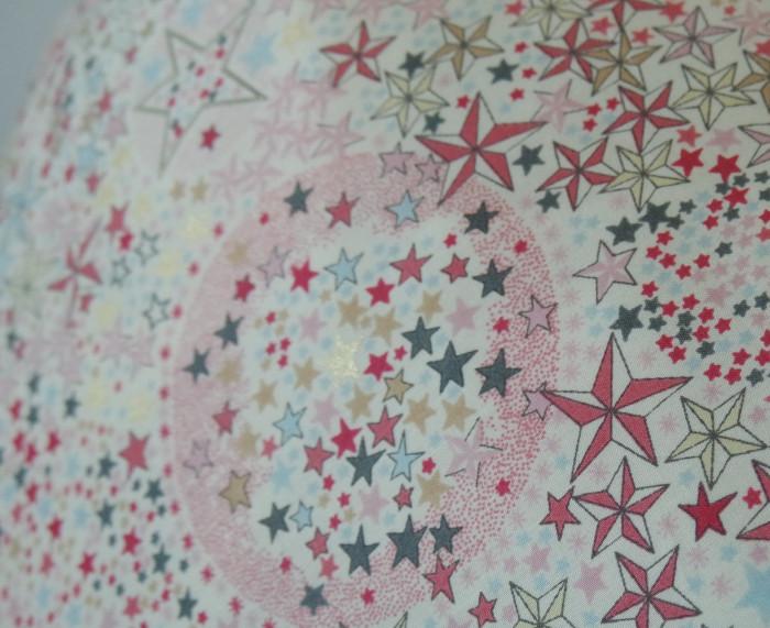 Liberty Adelajda étoiles roses gris or exclu japonnais