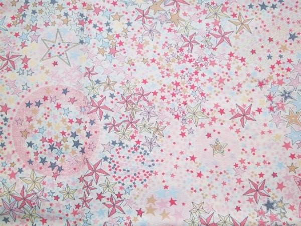 Liberty Adelajda rose « printed in Japan » avec ses petites étoiles dorées !