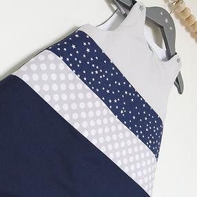 Collection chambe bébé et liste de naissance bleu marine gris blanc étoiles
